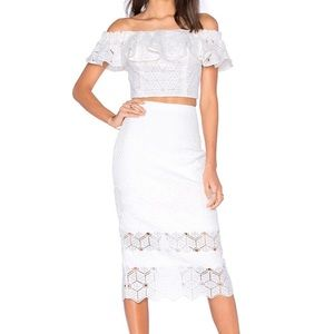 NWT Rebecca Taylor Dia Lace Skirt